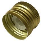 PP31,5 Schraubverschluss gold - ALU mit Ausgießer & Gewinde Beutel à 100 Stück