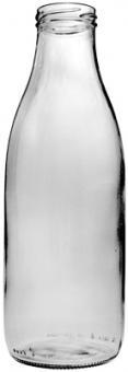Weithalsflasche 1000ml weiß TO48