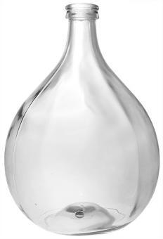 Glasballon   5000ml weiß blank 28mm Stück