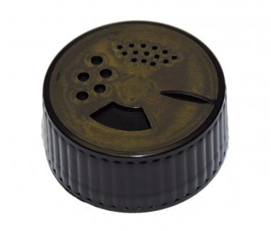 Gewürzglasverschluss schwarz mit 3 Varianten / Streuungen Stück