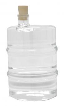 Glasfaß 350ml weiß inkl. Kork Stück