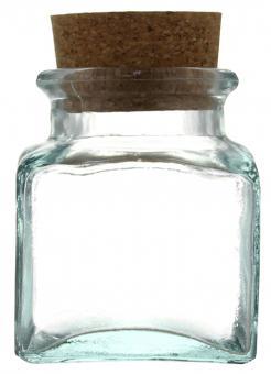 Gewürzglas 250ml lichtgrün inkl. Kork Stück