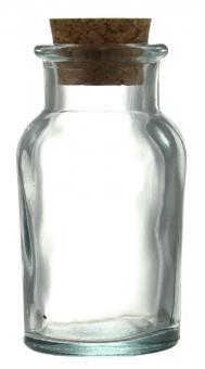 Gewürzglas 90ml lichtgrün inkl. Kork Stück
