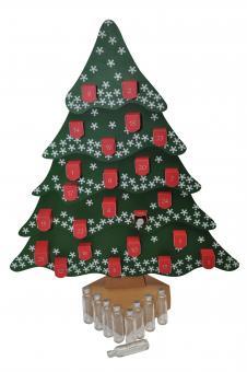 Adventskalender Tannenbaum für Krugflasche 40ml weiß PP18 inkl. Umkarton Stück