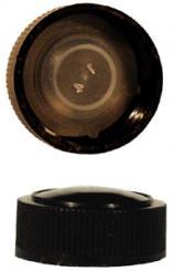 PP24 Schraubverschluss schwarz - Kunststoff mit Gewinde Beutel à 100 Stück