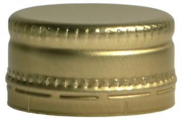 Schraubverschluss kurz MCA 28 x 15 gold Neutral ohne Druck !!!