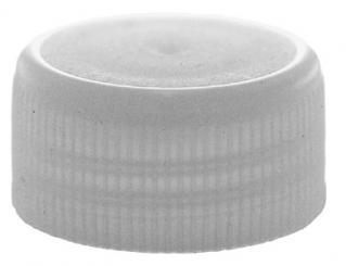 PP28 Schraubverschluss weiß - Kunststoff mit Gewinde