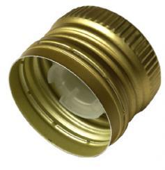 PP31,5 Schraubverschluss gold - ALU mit Ausgießer, Gewinde und Sicherungsring Beutel à 100 Stück