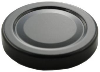 Deckel TO58 schwarz - ohne Button Für ölhaltige Inhalte geeignet! Stück