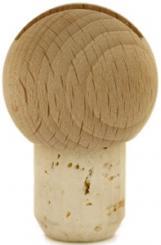 Kugel natur/roh 19mm geschlitzt HGK