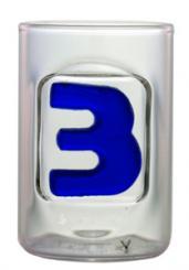 Zahl 3 - Schnapsstamper Muschel MGB