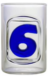 Zahl 6 - Schnapsstamper Muschel MGB