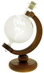 Globus 500ml weiß mit Holzgestell MGB