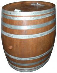 Dekofaß Oval ca. 600 l, rustikal gebeizt, auf Schwerlastrollen