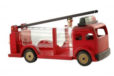 Feuerwehrfahrzeug rot mit Glastank 500ml