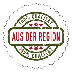 Schmucketikett 100 % Qualität - Aus der Region 1 Rolle á 250 Stück
