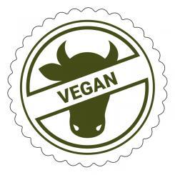 Schmucketikett Vegan 1 Rolle á 250 Stück