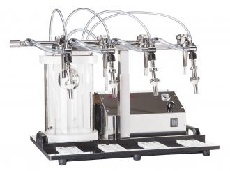 "Enolmaster ""Ö"" Vakuumfüller 4St. Inkl. VA Füllventile und Pyrex-Behälter, Silikonausst. 230 Volt, 50Hz."