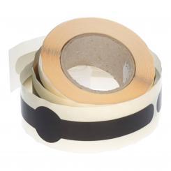 Banderole 150x23mm schwarz selbstklebend Packung á 100 Stück auf Rolle. Geeignet als Originalitätsverschluss Stück