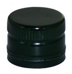 PP31,5 Schraubverschluss schwarz - ALU mit Ausgießer & Gewinde Beutel à 100 Stück