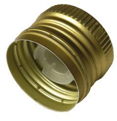 PP31,5 Schraubverschluss gold - ALU mit Ausgießer (hart), Gewinde und Sicherungsring Stück