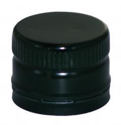 PP31,5 Schraubverschluss schwarz - ALU mit Ausgießer & Gewinde (hart) Beutel à 100 Stück