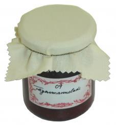 Stoffdeckchen 150x150mm creme für TO-Deckel 70-100 Lieferung ohne Dekoration