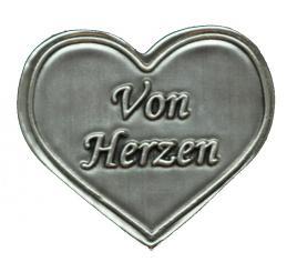 Zinnetiketten - Herz 35x40 - Von Herzen