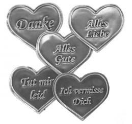 Zinnetiketten - Herz 35x40 - Alles Liebe