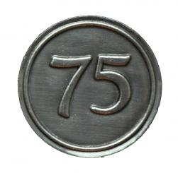 Zinnetiketten - Rund 30mm - Zahl 75 Stück