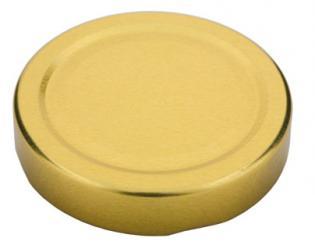 Deckel TO66 deep gold - Nicht für ölhaltige Inhalte geeignet! Beutel à 100 Stück