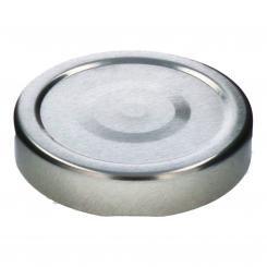 Deckel TO66 deep silber - mit Button auch für ölhaltige Inhalte geeignet
