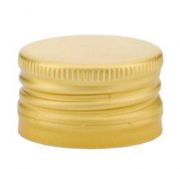 PP31,5 Schraubverschluss gold - ALU mit Gewinde & Abrissring Passend für Handverschlusszange Beutel à 100 Stück