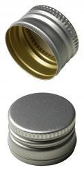 PP22 Schraubverschluss silber - ALU mit Gewinde Beutel à 100 Stück