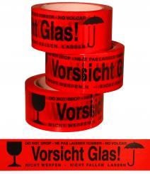 Klebeband bunt (Vorsicht Glas) 50mm x 60m