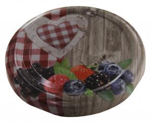 Deckel TO82 Frucht/Holzmotiv Nicht für ölhaltige Inhalte geeignet! Beutel à 100 Stück