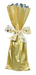 Flaschenbeutel Metallise gold matt, 18x50 cm, Pack à 50