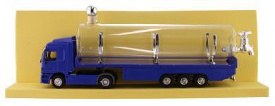 LKW Mercedes blau Kunststoff mit Glastank 500ml