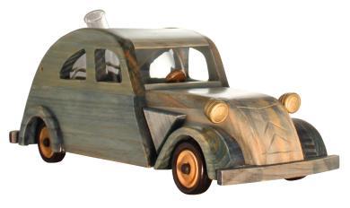 Holzmodell Citroen 2CV mit Glastank 350m