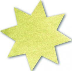 Schmucketikett Stern klein 27x 27mm - gold glänzend Selbstklebend Packung á 250 Stück auf Rolle Stück