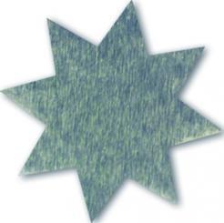 Schmucketikett Stern klein 27x 27mm - silber glänzend Selbstklebend Packung á 250 Stück auf Rolle