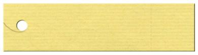Anhängekarte Rechteck (Preisanhänger) mit Abriss 130x 33mm - Naturpapier Karton Packung á 100 Stück