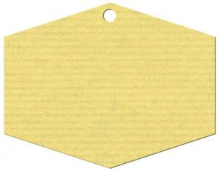 Anhängekarte Hexagon groß 70x55mm Naturpapier Karton Packung á 50 Stück