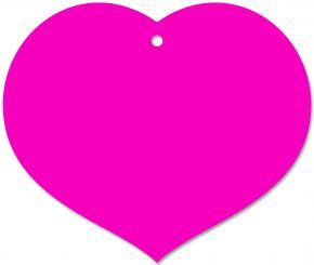 Anhängekarte Herz 90x70mm - Karton pink Packung á 50 Stück