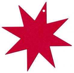 Anhängekarte Stern groß 85x85mm Karton rot Packung á 50 Stück