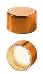 PP31,5 Schraubverschluss mit Kunststoffkappe kupfer glanz