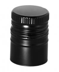 PP31,5 Schraubverschluss Longcap schwarz - ALU mit Ausgießer & Gewinde Beutel à 100 Stück