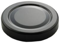 Deckel TO82 Deep schwarz - ESBO-reduziert Verwendbar bis 100° Celsius Beutel à 100 Stück