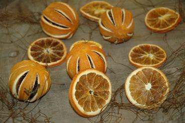 Orangenscheiben getrocknet 500 gr  Dekomaterial  Nicht zum Verzehr geeignet Stück