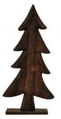 Baum Holz braun 18 x 36,5 x 5,5cm